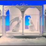 Belén de papel - Anunciación a la Virgen